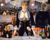 Edouard Manet : A Bar at the Folies-Bergere (A Bar at the Crazy Shepherdess)