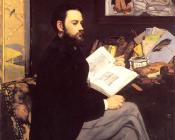 Edouard Manet : Portrait of Emile Zola